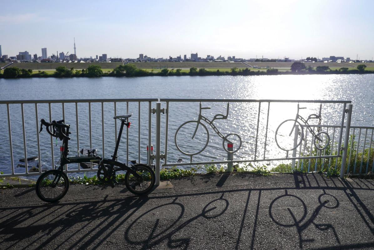 DAHON Curve D7で江戸川サイクリングロード海から14.25kmに行ってみた