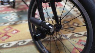 自転車ライトの取り付け方についていろいろと試しています♪
