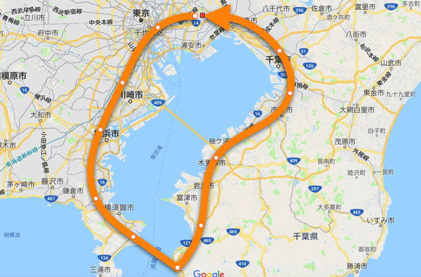 Cycle around the tokyo bay
