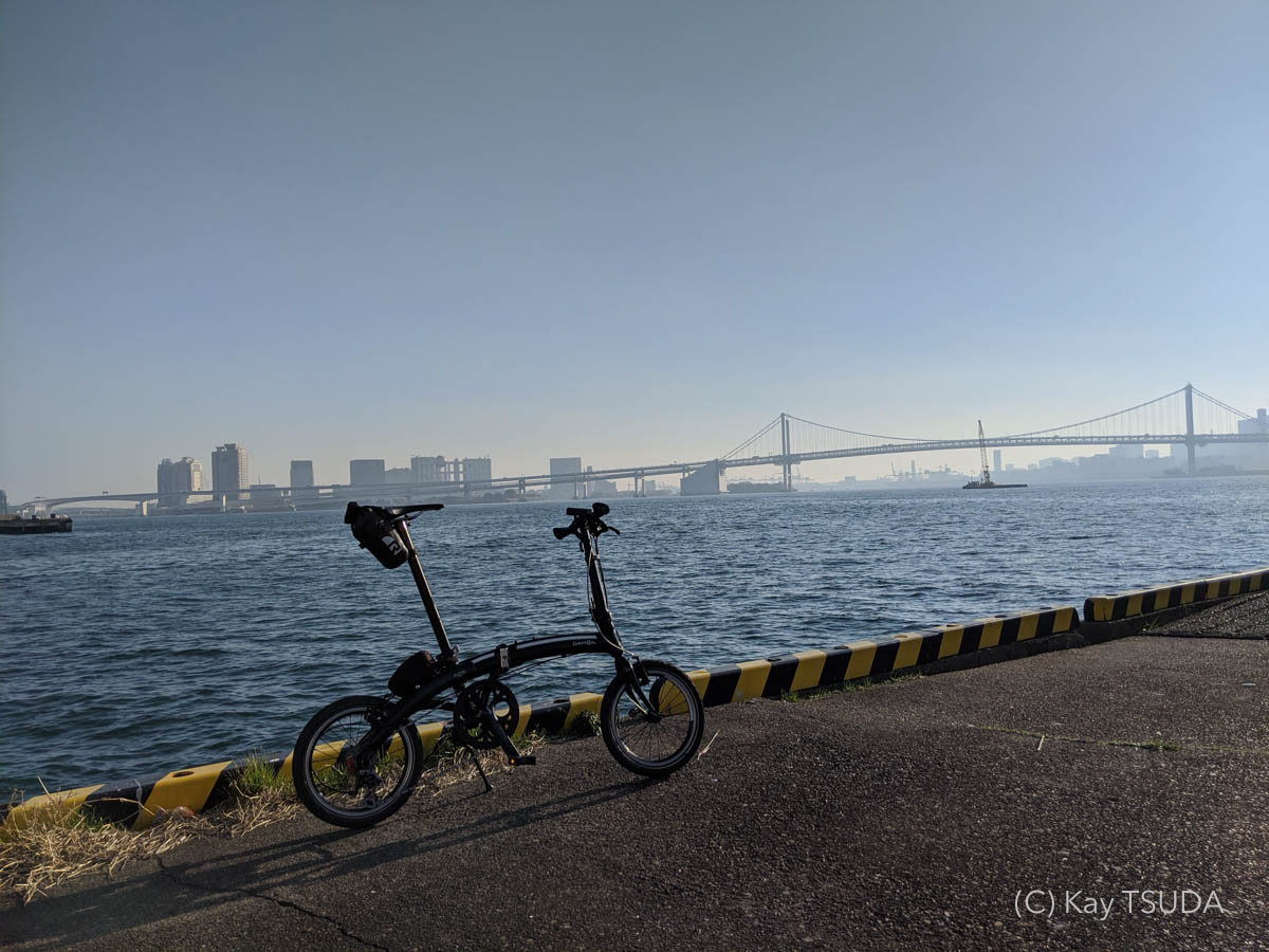 Dahon curve d7 goes around chuo city 13