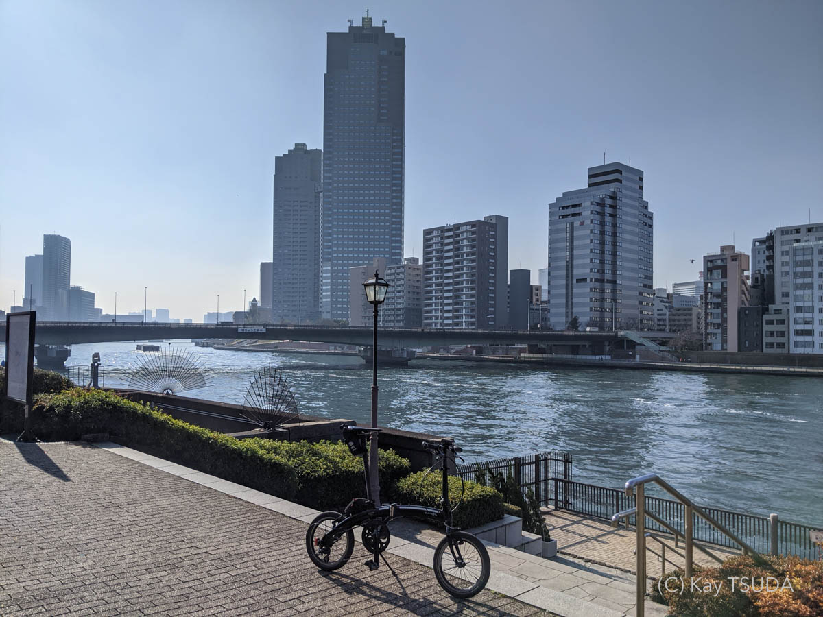 Dahon curve d7 goes around chuo city 8